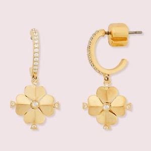 Kate Spade ♠️ NWT Legacy Logo Gold Earrings